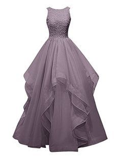 Dresstells® Long Prom Dress Asymmetric Bridesmaid Dress Beaded Organza Gown Grey Size 6 Dresstells http://www.amazon.com/dp/B018G595PG/ref=cm_sw_r_pi_dp_Px33wb0MPN4V7