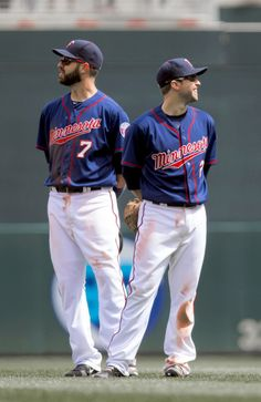 So much sexiness in one picture. Joe Mauer and Brian Dozier