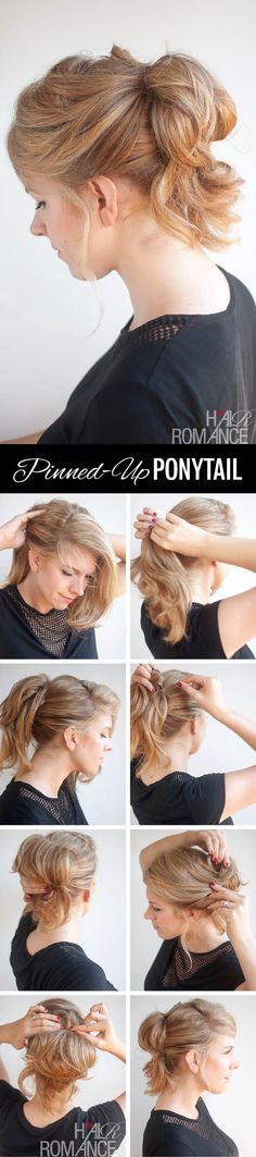 Hair Romance - the pinned up ponytail hairstyle tutorial