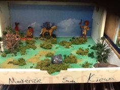 4th grade Indian tribe diorama. Indian Project, Indian Tribes, School Projects, Diorama, Classroom, Crafts, Manualidades, Dioramas, Crafting