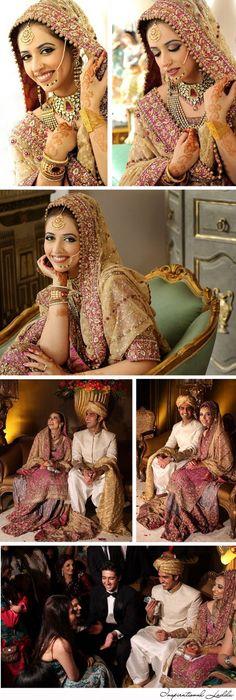 South Asian Real Wedding Malick and Jehan (Designer: Bunto Kazmi, Makeup and Photography Khawar Riaz) #Pakistan #wedding