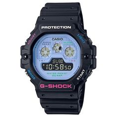 CASIO G-Shock DW-5900DN-1 Psychedelic Multi Colors Casio G-shock, Casio Watch, Casio G Shock Watches, Beach Adventure, Neon Colors, Instagram, Night Time, Psychedelic, Specs