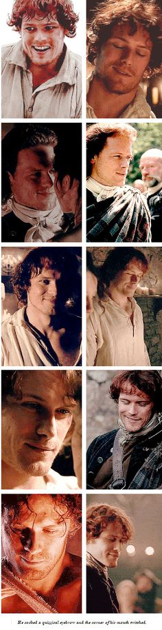 [GIFSET] Click to my blog for larger view :) #Jamie #Outlander. He cocked a quizzical eyebrow and the corner of his mouth twitched.