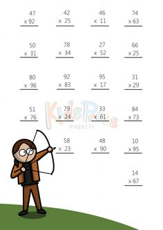 Multiplying 2 Digits by 1 Digit  4   Pinterest   Math multiplication     Multiplying 2 Digits by 2 Digit  2  Math  Multiply  Worksheet  Superheros