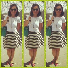 Top-stradivarious,skirt-h&m,flats-zara,accessories-forever 21 and sunnies-dolce and gabbana