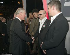 No burping here: Harry Hill and Rizzle Kicks got the change to meet Prince Charles