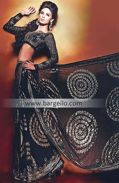 Black Alana Designer Saree UK USA Canada Australia Saudi Arabaia Japan Bahrain Kuwait Norway Sweden New Zealand  http://www.bargello.com/Black+Alana-267-Sarees-107-5702.htm