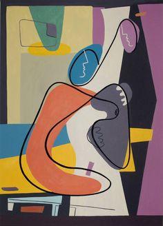 "Saatchi Art Artist Bernard Simunovic; Painting, ""Family Portrait II Contemporary Art, figurative abstract lines"" #art"