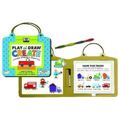 Trucks Reusable Drawing and Magnet Kit
