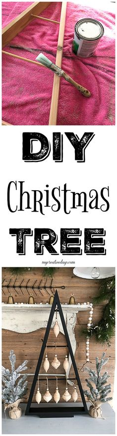 If you are looking for an inexpensive way to have a Christmas tree that is unique and doesn't take up a lot of space, click over to see how to make this DIY Christmas tree with scrap wood!