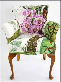 Just fab - Totally Tropical Chair - Furniture - Timorous Beasties Funky Furniture, Shabby Chic Furniture, Painted Furniture, Furniture Design, Painted Dressers, Plywood Furniture, Chair Design, Design Design, Chair Upholstery