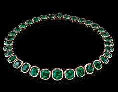 103.48ct emerald necklace from The Style of Jolie collection http://www.robertprocop.com/index.php?page=jewels=3,31=16