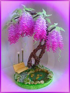 Одноклассники Beaded Flowers Patterns, French Beaded Flowers, Paper Flowers Craft, Flower Crafts, Wire Crafts, Bead Crafts, Bird Nest Craft, Copper Wire Art, Bonsai Art