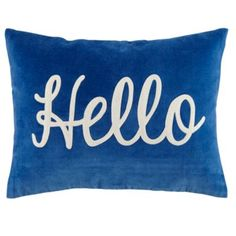 Hello Throw Pillow  | The Land of Nod