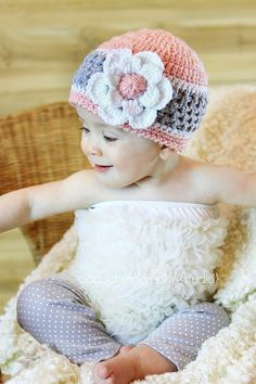 Hard Candy Beanie Crochet Pattern Baby Child by SweetKiwiCrochet, $2.99