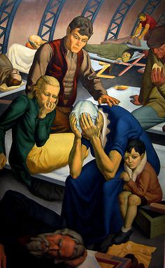 Grapefruit Moon Gallery: After The Flood WPA artist Alton Tobey. murals during the great depression 1937