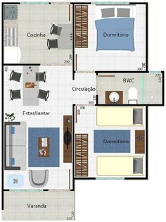 planos de casas de dos pisos de 49 metros cuadrados