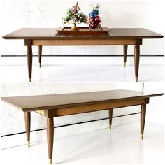 Mid Century Modern Coffee Table Long Surfboard Danish Wood Retro Vintage #MidCenturyModern #Unbranded
