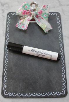 Paper Tales: Chalkboard clipboard