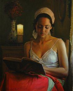 "Emmanuel Garant. (On my new board ""Book & Reading II. Irit volgel)"