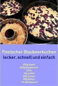 Rezept finnischer Blaubeerkuchen, #Rezept, #Kuchen, #Ostern, #Finnland,