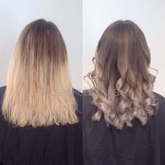 Grey hair This is applied as a toner (korrigering) and will fade out. I used 15 g 10/1 1g 0/66 8g 0/81 8g 0/11 + pastel developer in wet hair for 20 minutes ✌️ I also added 1/8 #olaplexnorge to achieve a healthy hair that will hold the color for longer