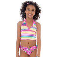Zany Garden Halter Swimsuit