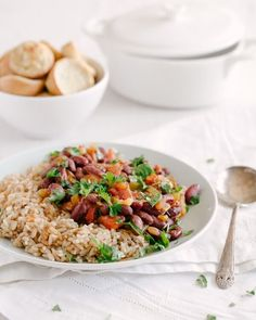 This vegetarian red beans and rice recipe is budget-friendly meal with ingredients that are accessible in most supermarkets. Zesty and nutrient-dense, it's full of veggies, legumes, and Cajun spices. #healthy #mealprep #budgetmeals #vegan #vegetarian #redbeansandrice #cajunrecipe