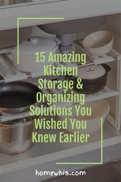 Cluttered kitchen? Running low on storage space? Then, here are 15+ small kitchen organization ideas that help you clear out the clutter and bring everything back in order again! From under the sink organization to countertop organizations ideas, you'll find the best way to utilize storage space, label and group your items together for a neat and organized kitchen! Visit the post now! #homewhis #kitchenorganization #undersinkorganization #declutter #cabinetorganization #fridgeorganization Kitchen Countertop Organization, Under Sink Organization, Sink Organizer, Spice Organization, Kitchen Storage, Magnetic Spice Jars, Under Shelf Basket, Fridge Shelves, Kitchen Trash Cans