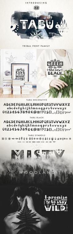 Tabu - Tribal Font Family by Struvictory.art on @creativemarket