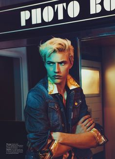 Lucky Blue Smith photographed by Christian Oita for Wonderland Magazine F/W15 #malemodel