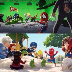 wayiiseelife: #Marvel #Spiderman #CaptianAmerica #IronMan #BlackWidow #Hawkeye #Ultron #Avengers #AgeOfUltron