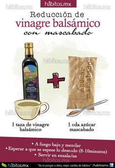 Reducción de vinagre balsámico con azúcar moscabado….