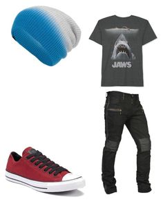 """shark week"" by amerchen on Polyvore featuring JEM, Converse, Society, men's fashion and menswear"