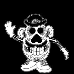Sugar skull Mr. Potato Head :)