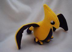 Pterodactyl Plush Yellow by Trinkety on Etsy