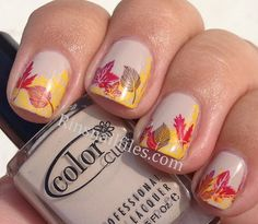 Rin's Nail Files: Fall Leaves...