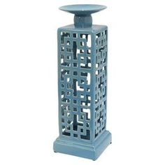 Veronica Candleholder in Blue