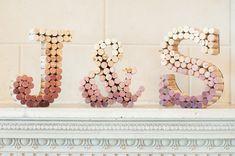 Korken für eine Deko aus Buchstaben
