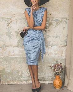 Wome Elegant Wave Point Slim Plus Size Evening Dress – lalasgal Evening Dresses Plus Size, Plus Size Dresses, Summer Dresses, Vacation Dresses, Dressy Dresses, Midi Dresses, Floral Dresses, Party Dresses, Fashion Dresses