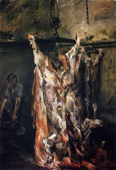 Lovis Corinth-The Slaughtered Ox