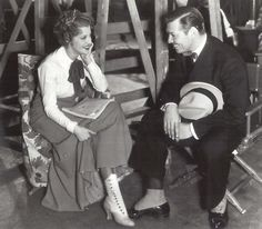 Jeanette Macdonald and Clark Gable.    (is it me or are her boots gorgeous... and past fashion from at least 30 years? XD)