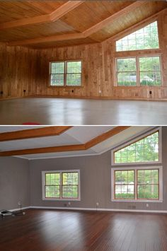 "Easy Family Room Flip with Handscraped Bamboo! ""Easy to install and looks great!! Definitely recommend it."" - Greg, OH"