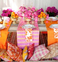 bold boho moroccan inspired wedding table styling - brides of adelaide