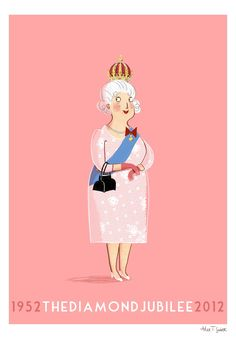 Fab Queen Elizabeth 60th Jubilee illustration by Alex T Smith :)