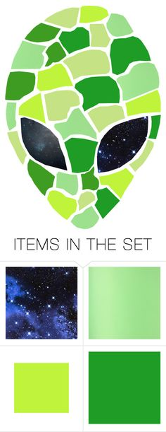 """beep beep boop dudes i come in peace ✌️️ 👽"" by quievi ❤ liked on Polyvore featuring art"