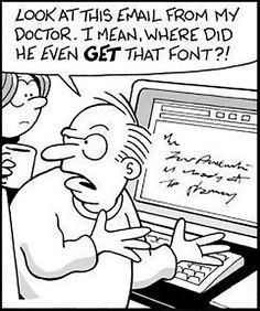 Doctor font...