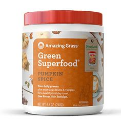 Amazing Grass Green Superfood Organic Powder with Wheat Grass and Greens, Flavor: Pumpkin Spice, 30 Servings #Amazing #Grass #Green #Superfood #Organic #Powder #with #Wheat #Greens, #Flavor: #Pumpkin #Spice, #Servings