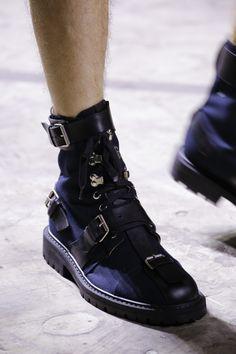 Dries Van Noten Spring 2017 Menswear Fashion Show Details - Buy Shoes, Me Too Shoes, Men's Shoes, Platform Shoes, Black Shoes, All Black Sneakers, Dries Van Noten, Mode Shoes, Paris Mode