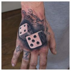 Dice tattoo by Phatt German #Tatto #Dice
